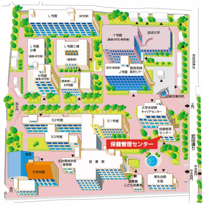 アクセスマップ(甲府キャンパス)