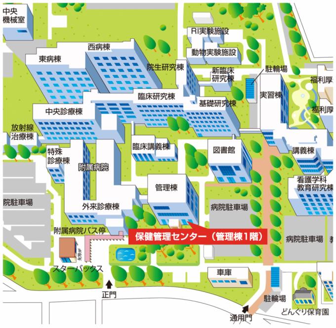 アクセスマップ(医学部キャンパス)